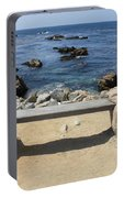 Rocky Seaside Bench Portable Battery Charger