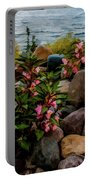 Rocky Shores Of Lake St. Clair- Michigan Portable Battery Charger