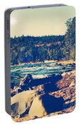 Rocky Shores Of Lake Superior Portable Battery Charger