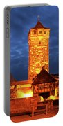 Rodertor At Twilight In Rothenburg Portable Battery Charger