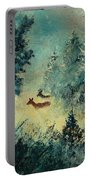 Roe Deers In September Morning Light Portable Battery Charger