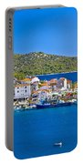 Rogoznica Harbor And Waterfront View Portable Battery Charger