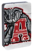 Roll Tide Alabama Crimson Tide Recycled State License Plate Art Portable Battery Charger