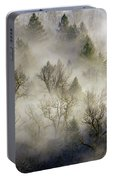 Rolling Fog In Sandy River Valley Portable Battery Charger