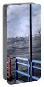 Rolling Waves In Winter At Grand Haven Portable Battery Charger
