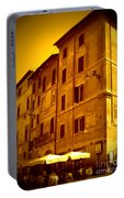Roman Cafe With Golden Sepia 2 Portable Battery Charger