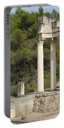 Roman Columns In Glanum Portable Battery Charger
