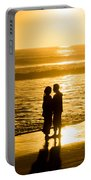 Romantic Beach Silhouette Portable Battery Charger