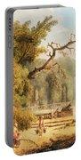 Romantic Garden Scene Portable Battery Charger by Hubert Robert