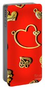 Romantic Heart Decorations Portable Battery Charger