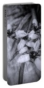 Romantic Island Iris In Black And White Portable Battery Charger