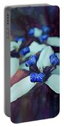 Romantic Island Lilies In Blues Portable Battery Charger