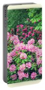 Romantic Rhododendrons Portable Battery Charger