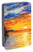 Romantic Sea Sunset Portable Battery Charger