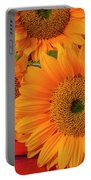 Romantic Sunflowers Portable Battery Charger