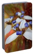 Romantic Textured Island Lilies  Portable Battery Charger