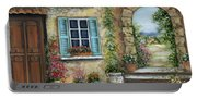 Romantic Tuscan Courtyard II Portable Battery Charger