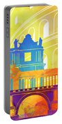 Rome Landmarks Watercolor Poster Portable Battery Charger