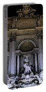 Rome, Trevi Fountain At Night Portable Battery Charger