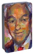 Ron Paul Art Impressionistic Painting  Portable Battery Charger