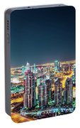 Rooftop Perspective Of Downtown Dubai Portable Battery Charger