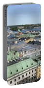 Rooftops Of Stockholm Portable Battery Charger