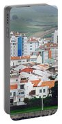Rooftops Of Ponta Delgada Portable Battery Charger