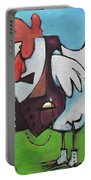 Rooster And Hen House Portable Battery Charger