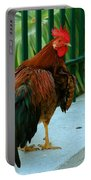 Rooster By The Fence Portable Battery Charger
