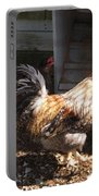 Rooster In A Coop Portable Battery Charger