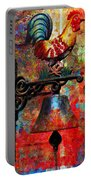 Rooster On The Door Whimsy Portable Battery Charger