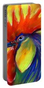 Rooster Painting Portable Battery Charger