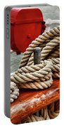 Ropes Of A Sailboat Portable Battery Charger