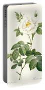 Rosa Alba Flore Pleno Portable Battery Charger
