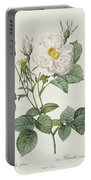 Rosa Alba Foliacea Portable Battery Charger by Pierre Joseph Redoute