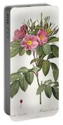 Rosa Carolina Corymbosa Portable Battery Charger by Pierre Joseph Redoute