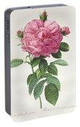 Rosa Gallica Flore Giganteo Portable Battery Charger