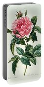 Rosa Gallica Regalis Portable Battery Charger by Pierre Joseph Redoute