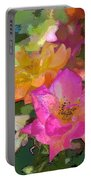 Rose 114 Portable Battery Charger by Pamela Cooper