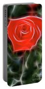 Rose-5879-fractal Portable Battery Charger