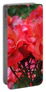 Rose Abundance Portable Battery Charger by Rona Black