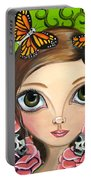 Rose Amongst The Butterflies Portable Battery Charger