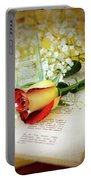 Rose And Bottle Portable Battery Charger
