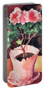 Rose Azaleas By August Macke Portable Battery Charger