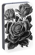 Rose Black Portable Battery Charger