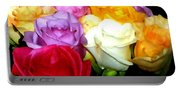 Rose Bouquet Painting Portable Battery Charger