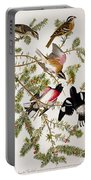 Rose Breasted Grosbeak Portable Battery Charger by John James Audubon