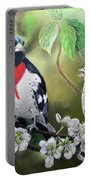 Rose Breasted Grosbeaks Portable Battery Charger