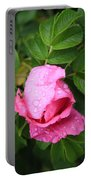 Rose Bud And Bee Portable Battery Charger