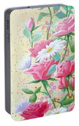 Rose Diptych 2  Portable Battery Charger